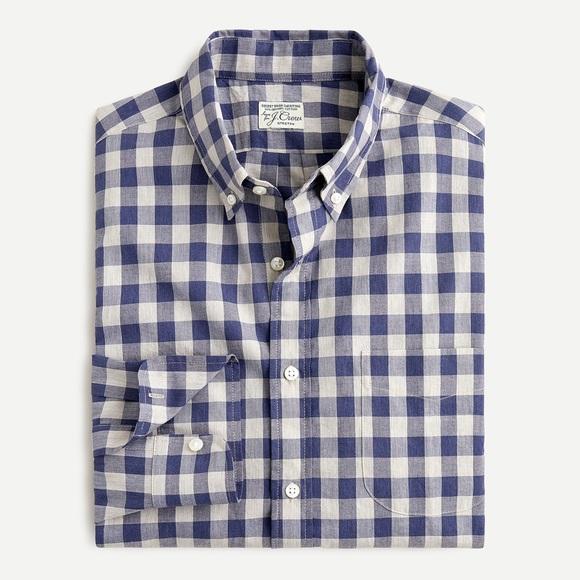 NWT J. Crew Stretch Cotton poplin Shirt gingham